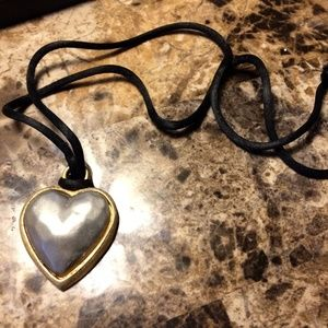 Jewelry - Valentine's Metal Heart Pendant Statement Necklace